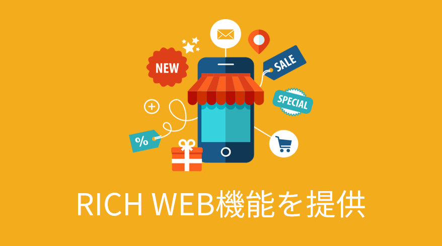 RICH-WEB機能を提供